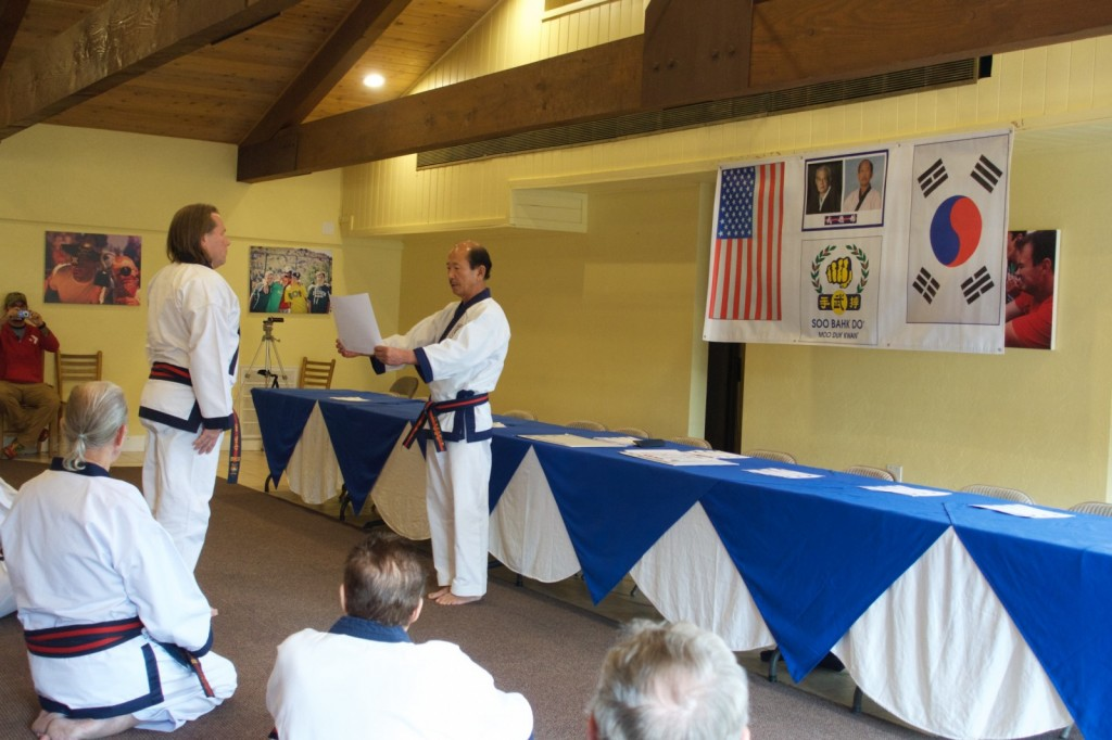 Bill Nelson Receives Moo Duk Kwan 8th Dan Rank